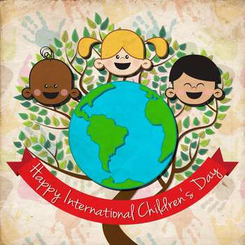 international children day background - vector #134064 gratis