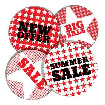 summer shopping sale emblems - vector gratuit #134104