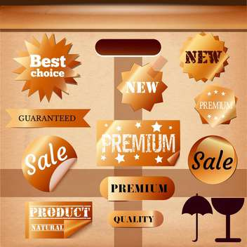 vintage design emblems set - vector gratuit #134164