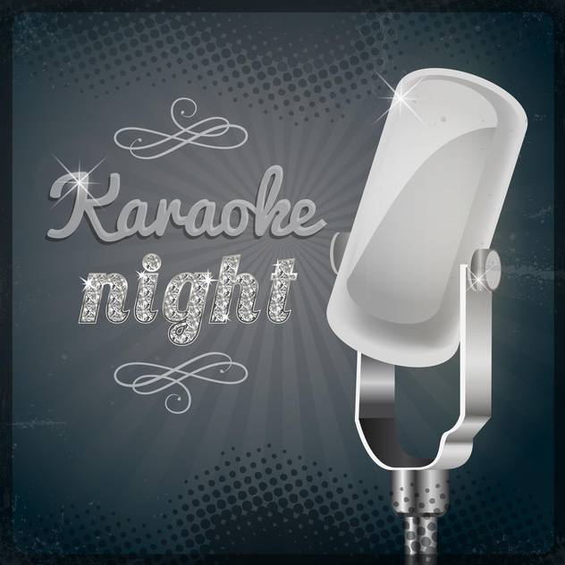 karaoke party night poster background - бесплатный vector #134184