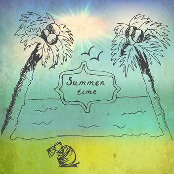 summer time vacation banner - vector gratuit #134214