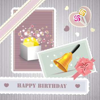 happy birthday card background - vector #134254 gratis