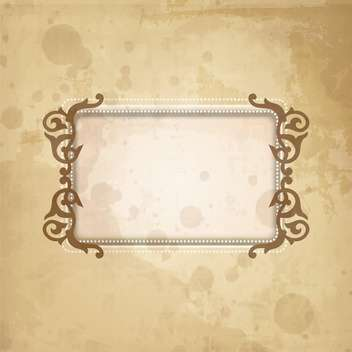 vintage abstract design frame - vector #134264 gratis