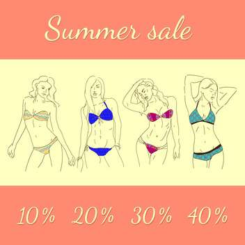 summer shopping sale picture - vector gratuit #134284