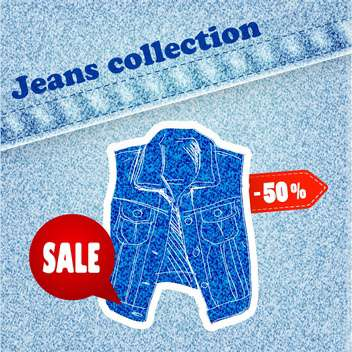 jeans sale banner - Kostenloses vector #134294