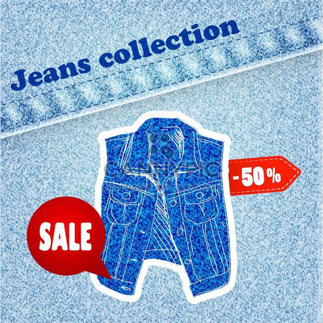 jeans sale banner - Free vector #134294