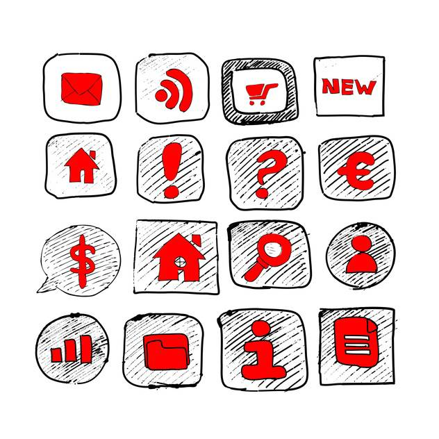 web icons sketch set - vector #134344 gratis