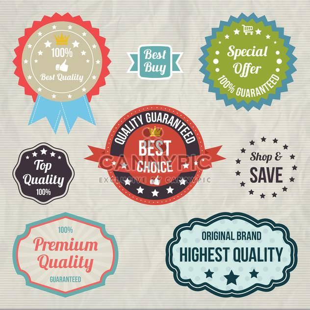 vintage sale signs set - Free vector #134374