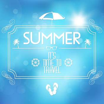 summer travel vacation background - Free vector #134454