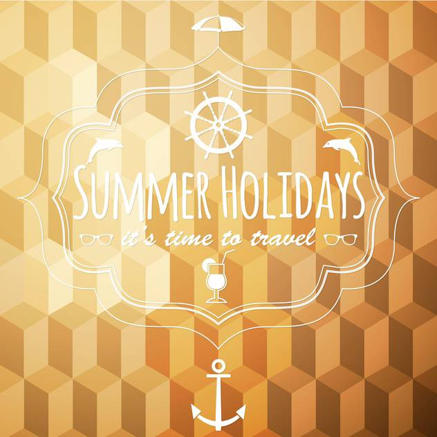 summer vacation holidays background - vector gratuit #134464