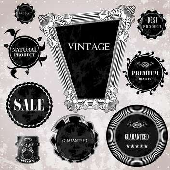 sale high quality labels and signs - vector #134494 gratis