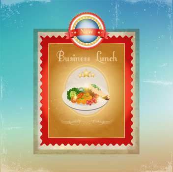 business lunch menu template - vector gratuit #134534