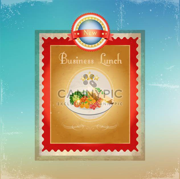 Business Lunch Menü-template - Kostenloses vector #134534