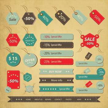 sale labels shopping set - vector gratuit #134614