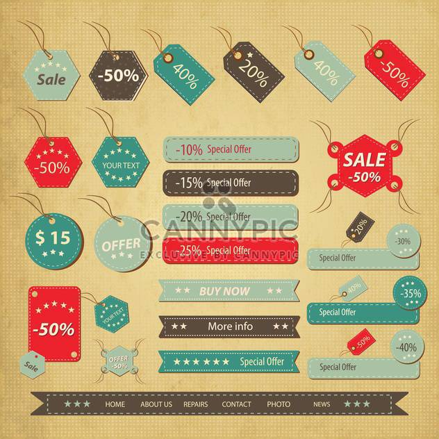 sale labels shopping set - Free vector #134614