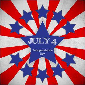 american independence day poster - vector gratuit #134634