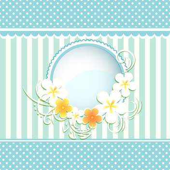 floral frame paper background - vector gratuit #134644