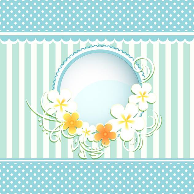 floral frame paper background - Free vector #134644