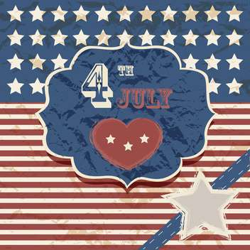 vintage vector independence day poster - vector #134654 gratis