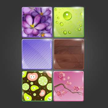 web button colorful set - vector gratuit #134664