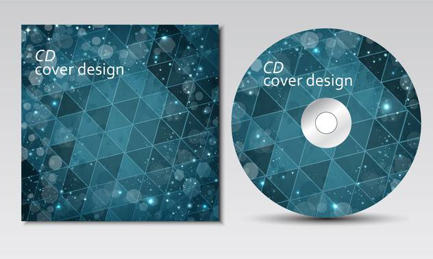 CD cover design template with text space - vector gratuit #134694