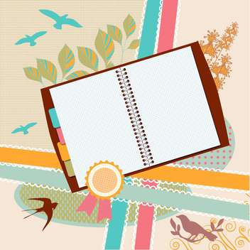 art vintage notepads illustration - vector #134724 gratis