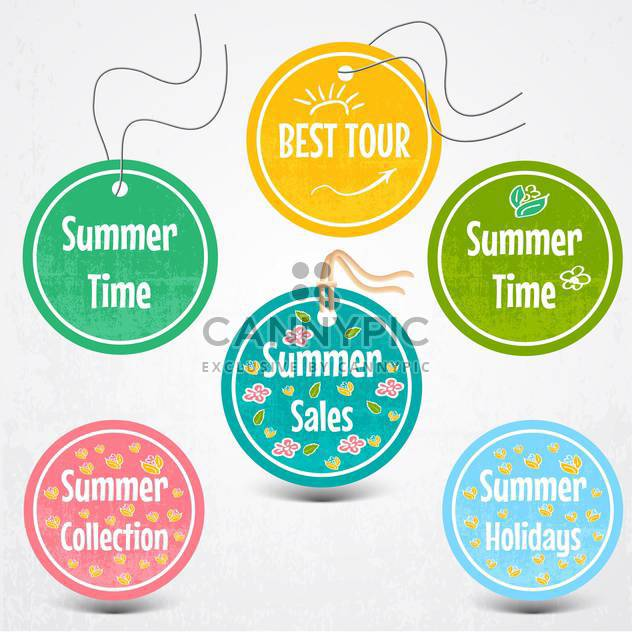vector set of stickers for summertime - Kostenloses vector #134764