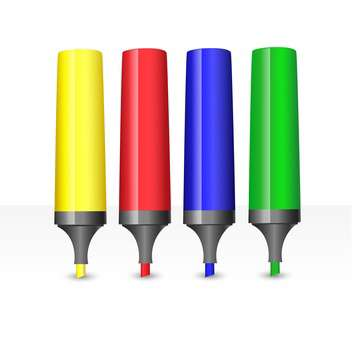 colorful markers set illustration - Free vector #134794