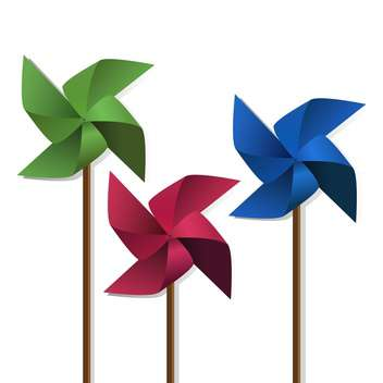 colorful pinwheels toys illustration - vector #134854 gratis