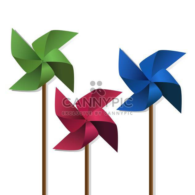 colorful pinwheels toys illustration - vector gratuit #134854