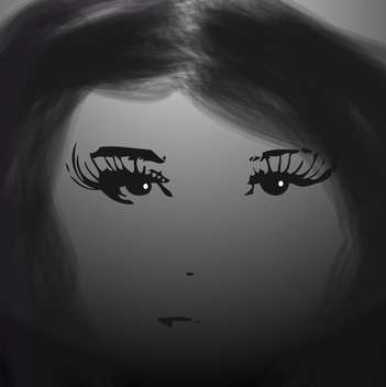 black and white female face - бесплатный vector #134924