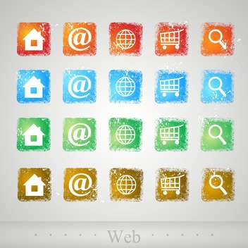vector set of web buttons - vector gratuit #134944