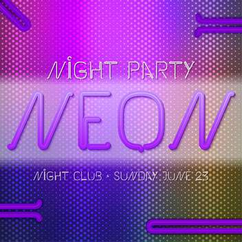 neon abstract party poster background - vector #134984 gratis