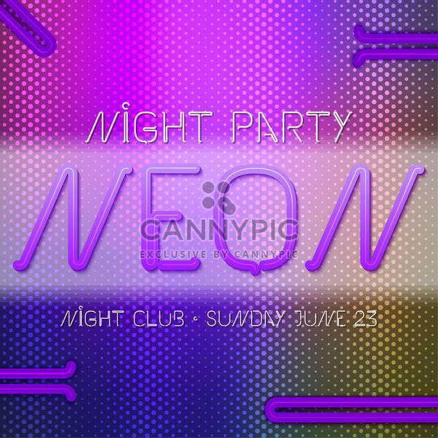 neon abstract party poster background - Free vector #134984