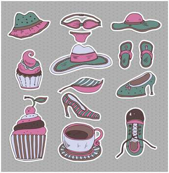 set of cartoon retro clothes - Free vector #135014