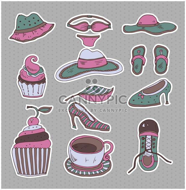 set of cartoon retro clothes - vector #135014 gratis
