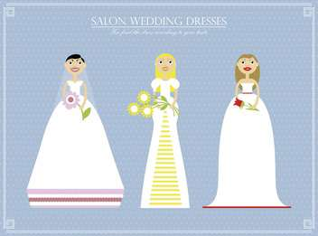 cartoon wedding day dress set salon illustration - vector #135034 gratis