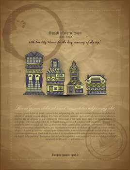retro vector architecture banner document - vector gratuit #135134
