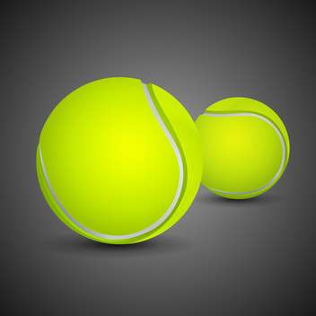 two tennis balls on black background - бесплатный vector #135144