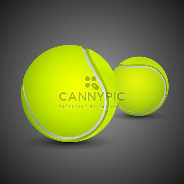 two tennis balls on black background - Kostenloses vector #135144