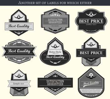 retro vector labels and badges set background - vector gratuit #135224